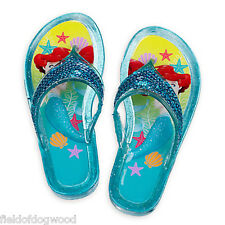 NWT Disney Store Princess Ariel Jelly Sandals Shoes 9/10,11/12,13/1 Girls