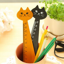 Vogue Wood Straight Ruler School Stationery Cute Cat Style Wooden Ruler