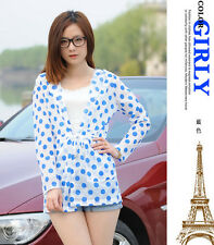 Candy Color Dot Breathe freely Uv Sun-protective Clothing Coat Upper Garment