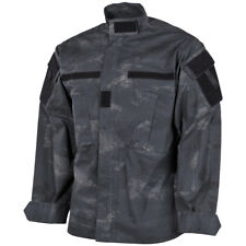 MFH Mens ACU Ripstop Uniform Shirt US Army Combat Long Sleeve Jacket HDT Camo LE