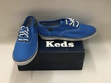 New Boxed Girls Blue Keds Vans Style Summer Trainers Select Size UK 13,3,3.5