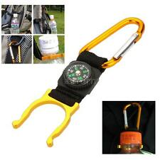 Convenient!Outdoor Hook Carabiner Compass Water Bottle Buckle Holder Clip O8N3