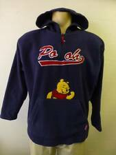 womens blue DISNEY WINNIE POOH 1/2 zip hoodie fleece Jacket coat sz Large Clean