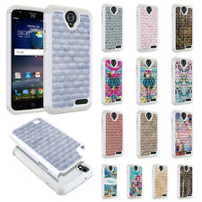 For ZTE Grand X3 Z959/ Warp 7 N9519 Design Bling Hybrid Silicone Case Cover Skin
