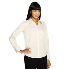 Simon Jersey Womens Ladies Blouse Plain Shirt Office Work Formal Smart Plus Size