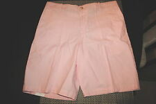 IZOD MENS NEWPORT OXFORD FLAT FRONT CASUAL SHORTS COLOR PINK SIZES 34 & 40  NWT