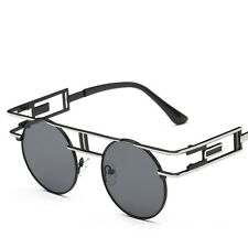 Gold Classic Old Cool Vintage Retro Hip Mens Womens Oval Round Sunglasses Frame