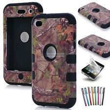 Hybrid Impact Camo Rubber Rugged Hard Case Cover Skin For ipod touch 4 4th gen