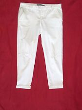 CALVIN KLEIN CUFFED CAPRI PANTS SIZE 6 BLACK, WHITE OR KHAKI