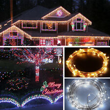 100/200/300 LED MICRO WIRE STRING FAIRY LIGHT CHRISTMAS TREE PARTY XMAS WEDDING
