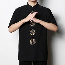 Chinese Traditional Style Linen Summer Casual Kung Fu Shirt Tops M L XL XXL 3XL