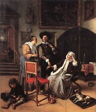 The Doctor's Visit by Jan Steen (classic Dutch Baroque art print)