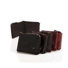 Men's Cowhide Leather Bifold Wallet Business Card Holder Purse Clutch Pockets