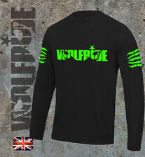 Long Sleeve Mountain bike light weight Wolfride logo wicking, technical - GREEN