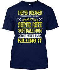 Super Cute Softball Mom (amz) Hanes Tagless Tee T-Shirt
