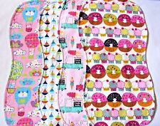Baby Burp Cloths Contoured Large Double Flannel Mix Or Match Handmade Free Ship