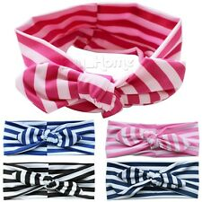 Cute Newborn Baby Toddler Girl Kid Bow Rabbit Flower Hair Band Turban Headband!