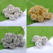 10Pair Crystal Rhinestone Strong Magnetic Connector Clasp For Bracelets Necklace