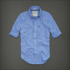 New Abercrombie & Fitch Mens Classic Shirts Lookout Mountain Blue Checker Size S