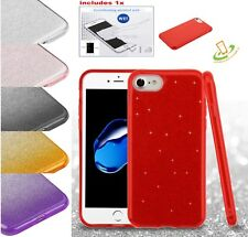 For Apple iPhone 7 Plus 7 Glitter Bling Hybrid Rubber Silicone Hard Case Cover