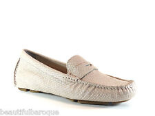 Cole Haan Trillby Driver Metallic Lizard Suede Leather Loafer D42500 NEW Size 9