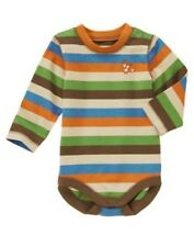 NWT Gymboree Fox Fella Bodysuit Boy SZ 0-3mo 3-6mo Knit Striped bodysuit baby