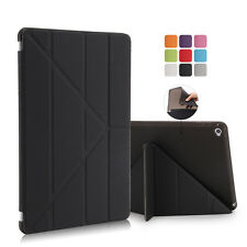 Soft TPU Cover Pu Leather Smart Magnetic Folio Cover Protect Case for iPad Air 2