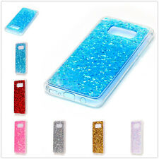 Eye Catching Bling Sparkle Crystal TPU Back Protective Cover For iPhone Samsung