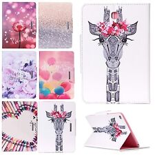 Beautiful Pattern Flip Stand Case PU Leather Cover For Apple iPad/Samsung Galaxy