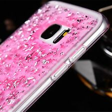 Bling Glitter Crystal Clear Soft TPU Case Cover For Samsung Galaxy Note 5/S7/S8