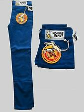 Womens Jeans Authentic Monkee Genes Electric Blue Sateen Skinny