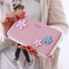 Women Flower 5.5 Inch Phone PU Wallet Case Cover Long Wallet Purse For Iphone Sa