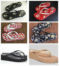 TORY BURCH Thora Flip Flop Sandals Strap Wedge Rubber Gift Size Logo Mille Flops