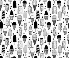 Ice Cream Ice Creams Ice Cream Cones Fabric Printed By Spoonflower BTY