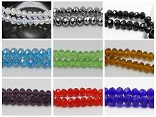 72pcs Faceted Rondelle Beads Crystal Glass Beads 6X8mm Color for Choice
