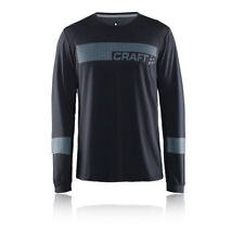 Craft Breakaway Mens Black Long Sleeve Crew Neck Running Sports Top