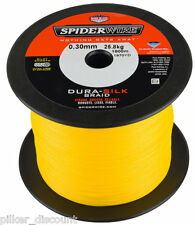 (0,10€/m) SPIDERWIRE Dura Silk Yellow,Large coil ever 25m, braided fishing line