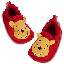 Disney Store Winnie The Pooh Slippers Booties Baby Infant Costume Shoes Red