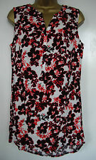 BN GEORGE - size 10 & 16 - Cream/ Black/ Red floral print TOP/ TUNIC - BNWoT