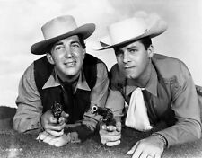 Dean Martin and Jerry Lewis Crawling in Cowboy Outfit High Quality Photo