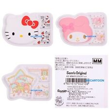 JAPAN SANRIO HELLO KITTY MELODY LITTLE TWINS CHILDREN TABLEWARE DIVIDED PLATE