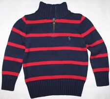 Polo RALPH LAUREN Baby/Toddler Boys 1/4 Zip Knitted Sweater Pullover Green Pony
