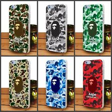 Aape A Bathing Ape Camo Army transparent Case For iPhone Samsung And Huawei