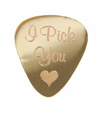 "Personalised Metal 1mm ""I pick you"" Guitar Plectrum Pick Engraved"