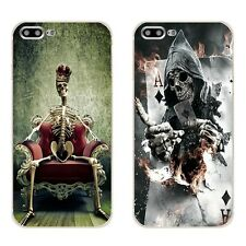 Grim Reaper Skull Skeleton Soft Case For iPhone 7 6S 5S plus Cool Skull Cover
