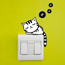 Cat DIY Home Decors Plane Wall Switch Stickers Removable Sticker for Notebook Li