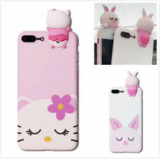 Cute Pink Pig & Hello Kitty Silicon Case Cute Cover For iPhone 6/6S/7 Plus Hot