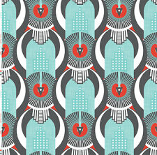Art Deco Fabric by the Yard Printed by Spoonflower BTY