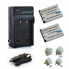 EN-EL19 ENEL19 Battery / Travel Home Charger for Nikon Coolpix S3100 S4100 S2500