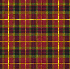 Red and Gol Plaid Fabric Printed by Spoonflower BTY